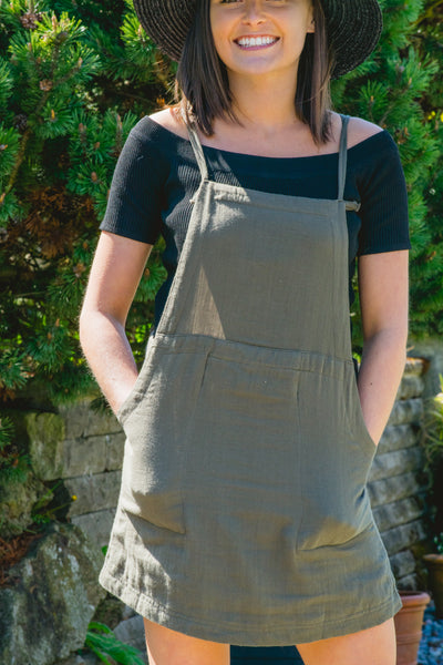 Strappy Overall Dress