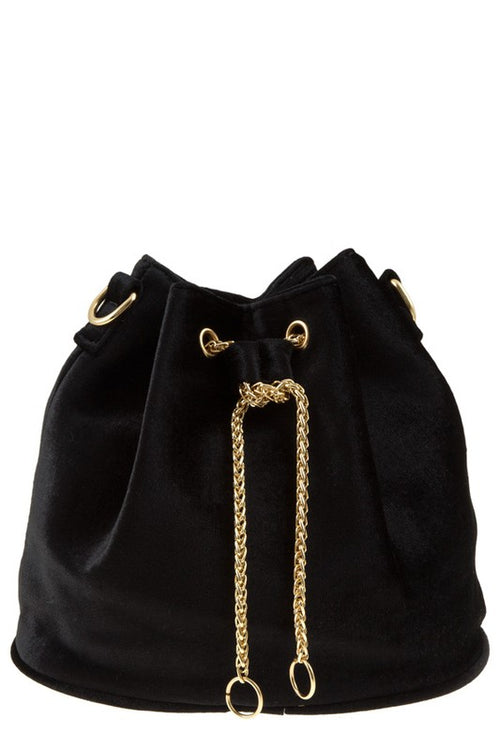 Velvet Chain Bucket Bag