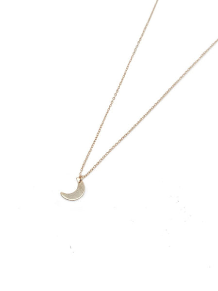 Mini Moon Pendant Necklace