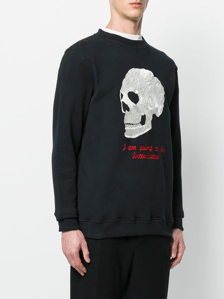 Skull Embroidered Sweat