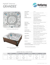 Grandee Hot Tub by Hot Spring Spas