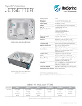 Jetsetter Hot Tub by Hot Spring Spas