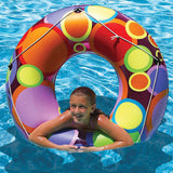 "Poolmaster 48"" Bright Color Circles Swim Tube"