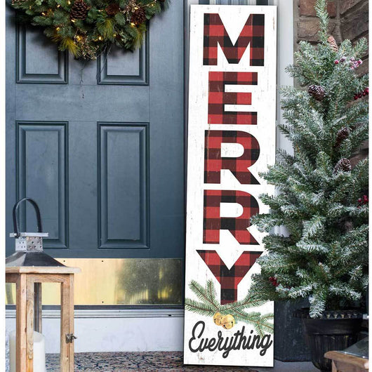 Merry Everything 'Leaner' Sign