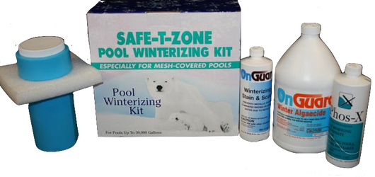 Safe-T-Zone Winter Pool Chemical Closing Kit for Mesh Pool Covers