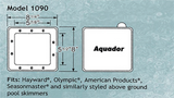 Aquador Pool Skimmer Cover