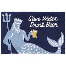 Save Water Drink Beer Indoor/Outdoor Rug - Frontporch Series