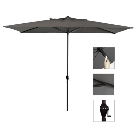 10' x 6' Steel Market Umbrella