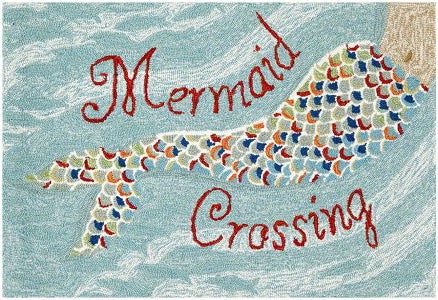 Mermaid Crossing Indoor/Outdoor Rug - Frontporch Series