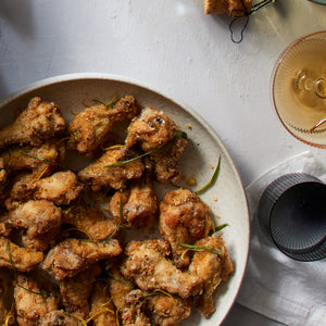 Salt and Pepper Chicken Wings with Crispy Garlic