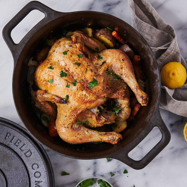 Dutch Oven-Roasted Chicken with Vegetables