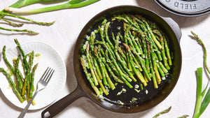 Cast Iron Skillet Asparagus and Spring Onions
