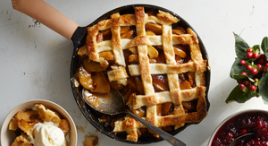 Classic Apple Pie Made in a Cast Iron Skillet