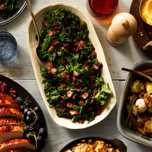 Braised Kale with Pancetta