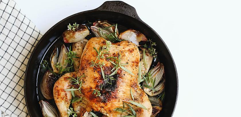 Cast Iron Skillet-Roasted Chicken
