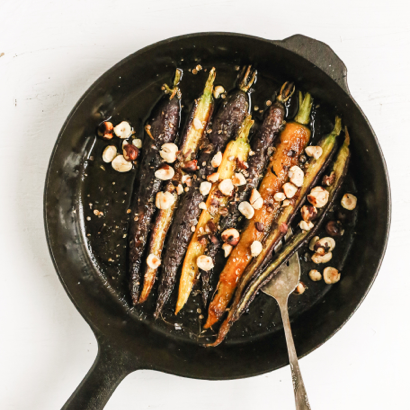 Roasted Carrots with Maple and Coriander