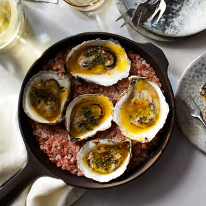 Skillet-Roasted Oysters with Hot Brown Butter