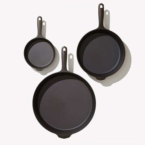 Three-Piece Cast Iron Cookware Set