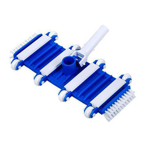 Flexible Pool Vacuum, 14in With Side Brushes -  For Concrete & Gunite Pools -11053 - Pool Baron