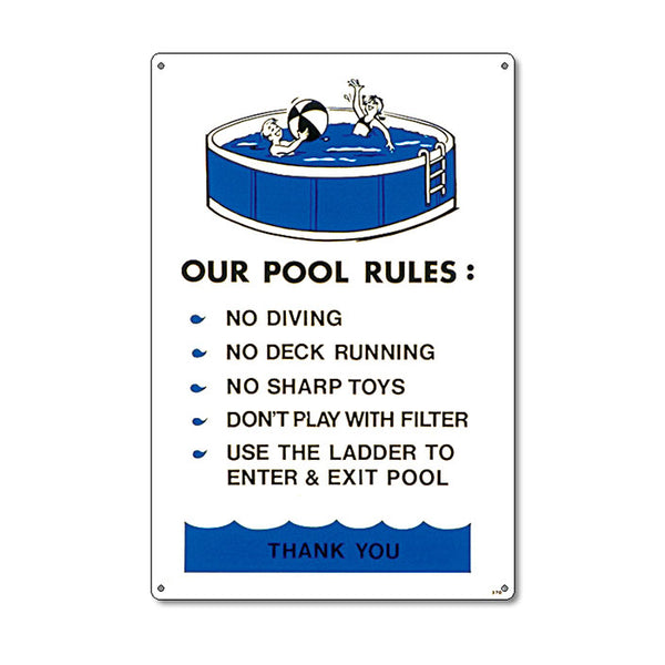 Above Ground Pool Rules Sign - Pool Baron