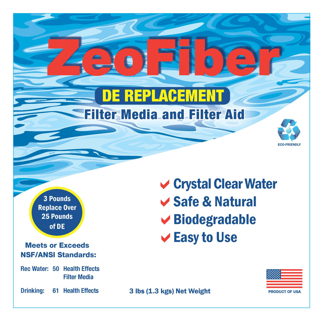 ZeoFiber Natural Alternative to D.E. - 3 LB Bag - Pool Baron