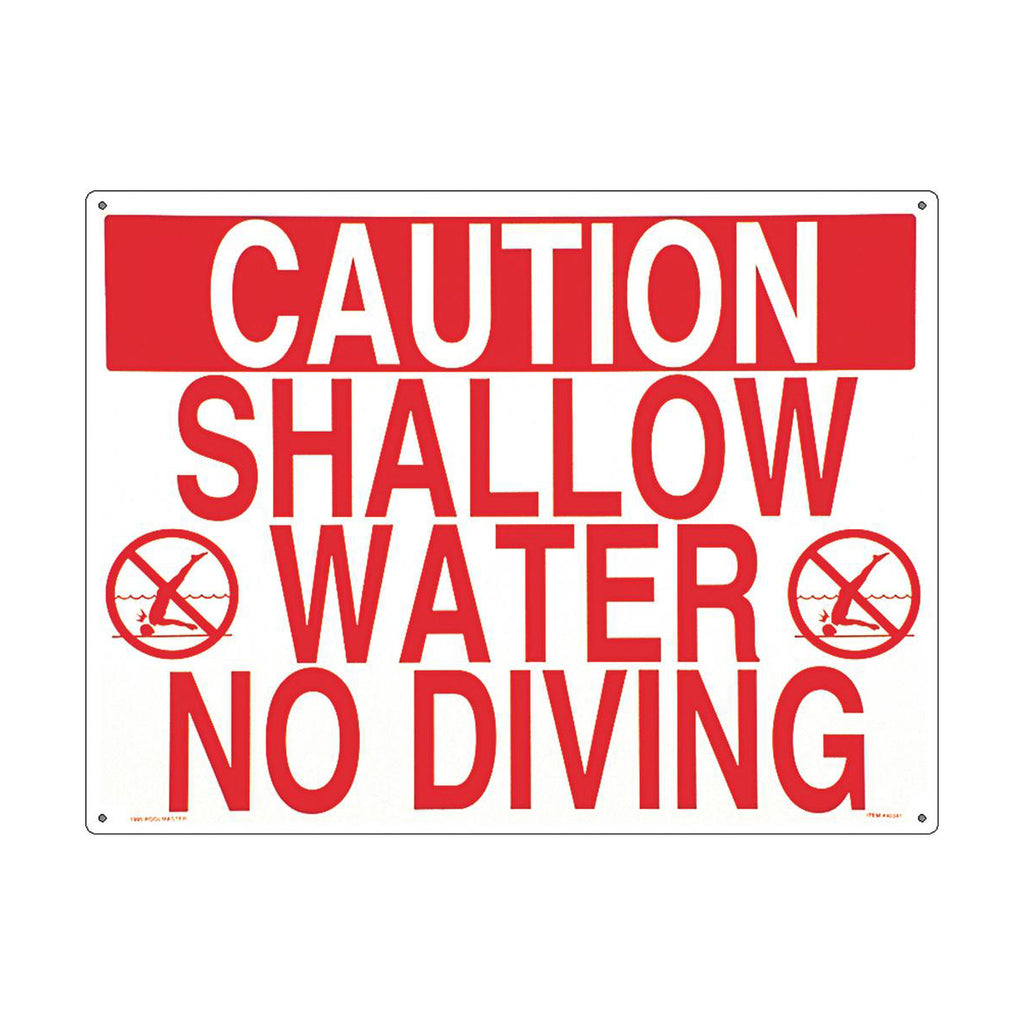Caution Shallow Water No Diving Sign - Pool Baron