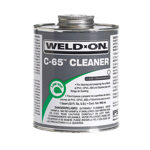 Weld-On C-65 PVC-CPVC Cleaner - 4 oz - Pool Baron