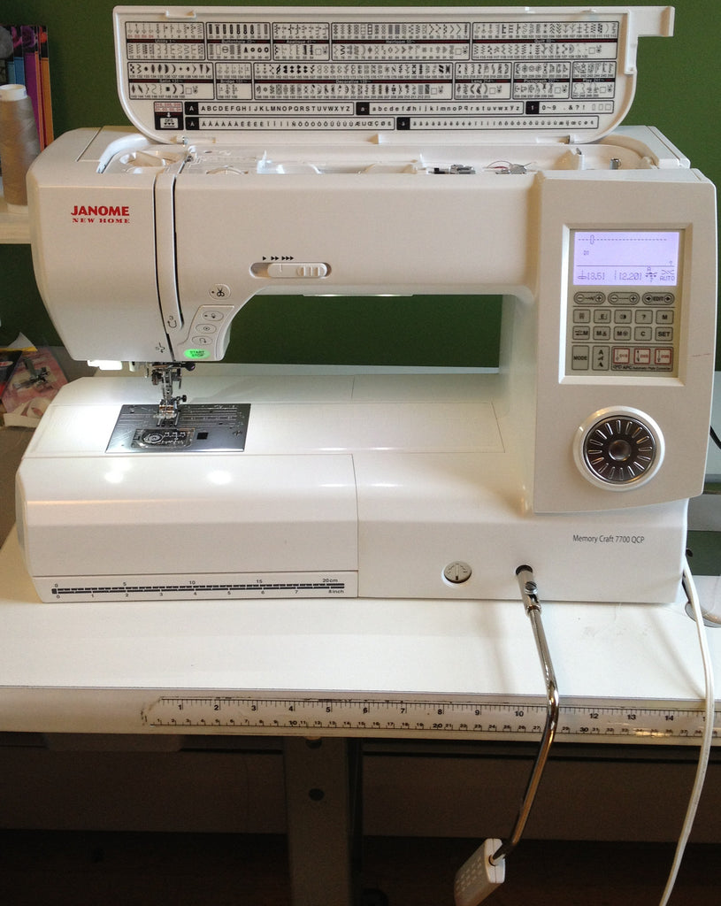The Janome QCP 7700