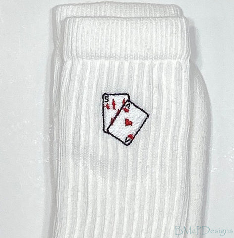 How did you embroider that design on your sock?