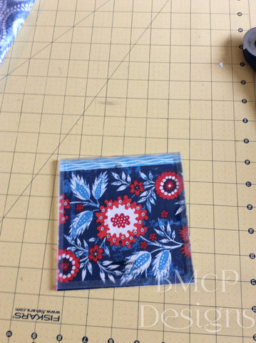 Sample of a fussy cut fabric square