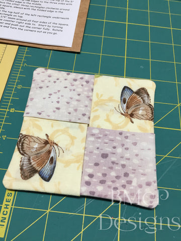 Footed Glass Coaster Original Free project kit