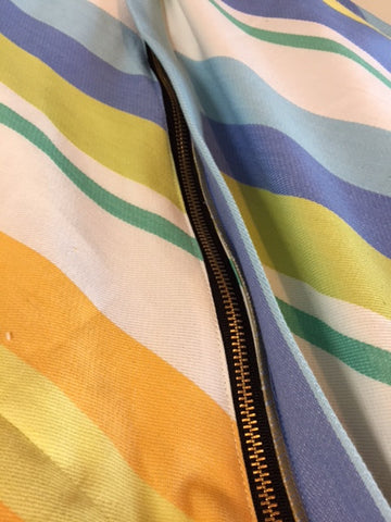 Add a fabric flap to cover your zipper