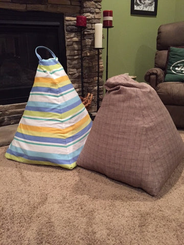 Completed Bean Bag with and without cover