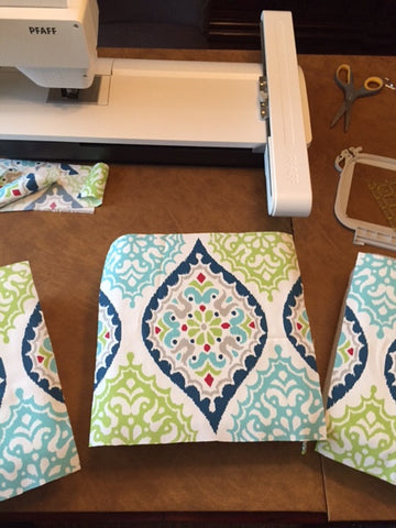 outdoor fabric cut for accent pillows