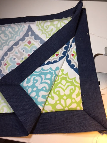 Sew the seams of the pillow cover