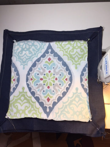 Stitch the pillow cover seams
