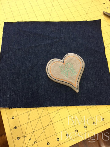 Chose placement for pocket on pillow front