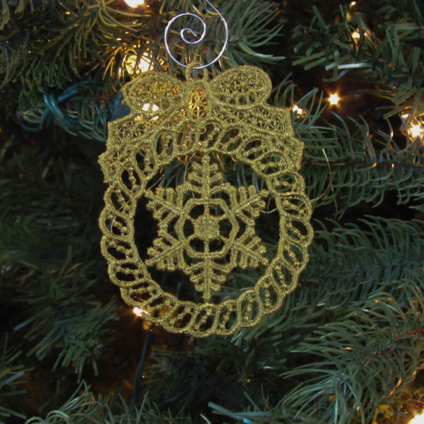 Metallic Lace Ornaments