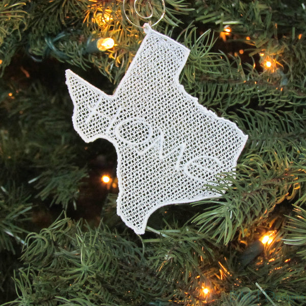 Texas Lace Ornaments