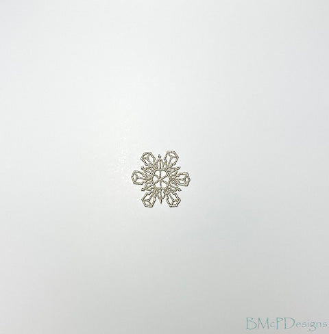 Metallic Snowflake Lace Ornaments