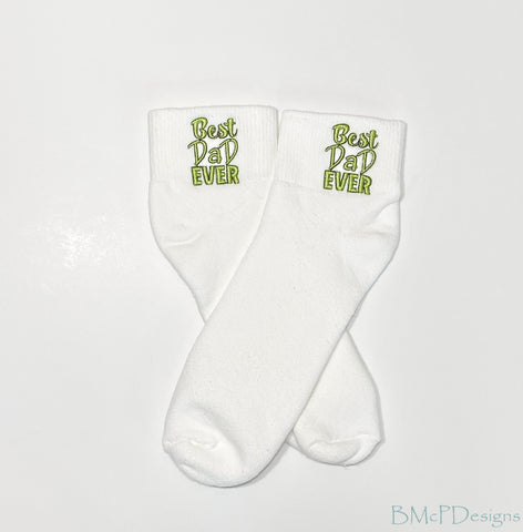 Best Dad Ever Gift for a Father Embroidered Ankle Sock