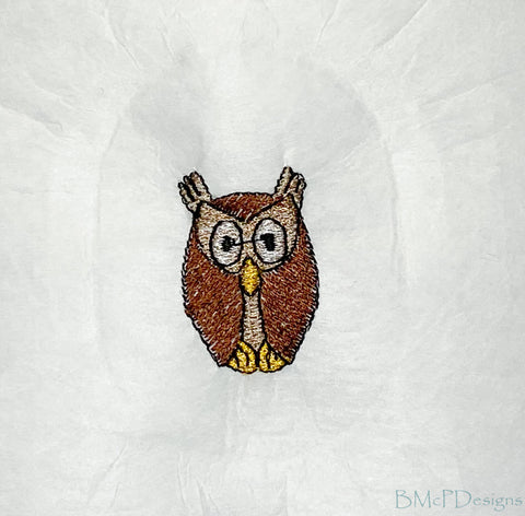 Owl Sock Hoop Embroidery Machine Design