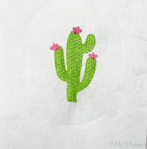 Cactus Sock Hoop Embroidery Machine Design