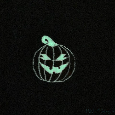 Embroidered Spooky Jack-O-Lantern Sock