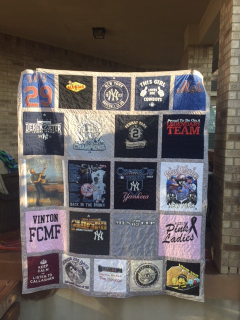 Custom Tshirt Quilt for Annie