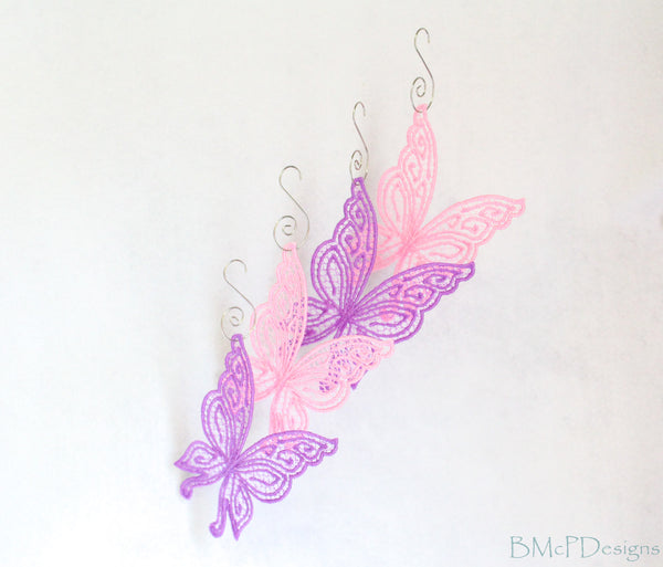 Fairy Wings Freestanding Lace Ornaments