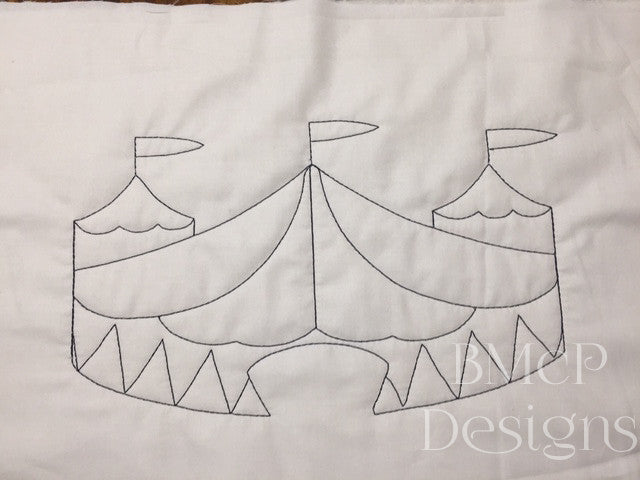 Bigtop circus tent embroidery design