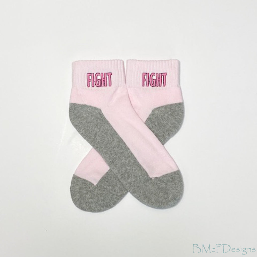 Fight Breast Cancer Awareness Ankle Sock