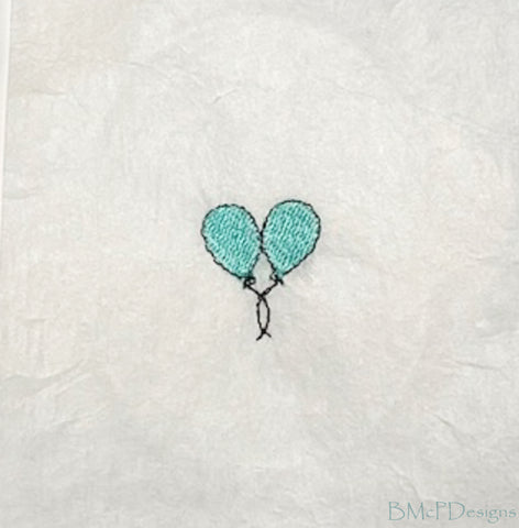 Two Balloons Sock Hoop Embroidery Machine Design