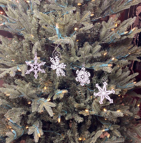 Snowflake Lace Ornaments